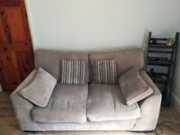 Isla Two Seater Sofa | Taupe Fabric