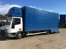 IVECO 75E15 REMOVAL TRUCK 7.5 TON MOT JUNE 2018 MANUAL FUEL PUMP DRIVES WITH OUT FAULT COME AND SEE!