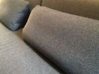 Mint Muji T2 Sofabed with additional Grey Pillows - Charcoal Grey