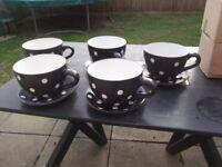 Large teacup garden planters x5