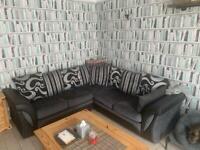 Large 5 seat corner sofa plus armchair & footstool