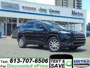 2017 Jeep Cherokee Limited - LOW KMs & FULLY LOADED