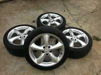 """Genuine mercedes adharaz 17"""" alloy wheels staggered & tyres"""