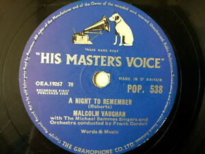 78-rpm-10-MALCOLM-VAUGHAN-a-night-to-remember-more