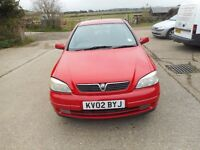 2002 VAUXHALL ASTRA 1.8 SRI 5 DOOR LONG MOT PART EXCHANGE BARGAIN LOW MILAGE