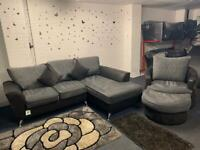 Beautiful Grey & Black SCS Sofa Set delivery 🚚 sofa suite couch furniture