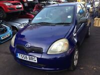 1999 Toyota Yaris 1.0 16v VVTi GS 5dr blue BREAKING FOR SPARES