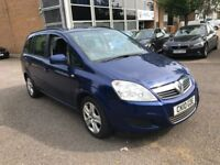 2010 VAUXHALL ZAFIRA 1.6 VVT PETROL MANUAL EXCLUSIV MPV 7 SEATER FAMILY CAR BLUE N SCENIC GALAXY FRV