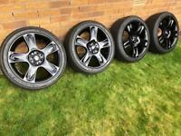 """MINI COOPER 17"""" ALLOYS & NEW TYRES R50 R52 R53 R55"""