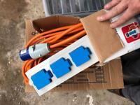 Crusader V762 Mains Supply Unit with 3 Sockets, 20m Cable.