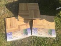 3 packs parquet ready sealed floor tiles