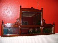 antique mahogany wall mirror, Edwardian mirror, c.1925, over-mantle mirror can be as bathroom mirror