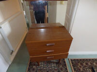 dressing table chest drawers with removable mirror
