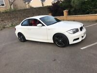 BMW 120D COUPE WHITE M SPORT RED LEATHER NAV