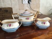 vintage Gibsons Staffordshire Teapot Milk Jug & Sugar bowl.