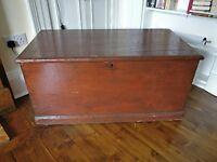 Antique Victorian Oak Storage Chest