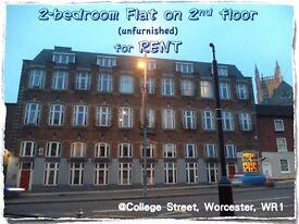 Worcester City Centre, WR1★2-bedroom flat (unfurnished) on 2nd Floor for RENT