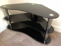 Black & Chrome TV Stand - Perfect Condition