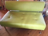 LIME GREEN BENCHES FROM CAFE - AS NEW CONDITION