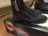 Sola wetsuit boots fit UK women 5 and 6