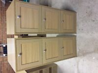 As new three drawer beech wood filing cabinet