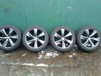 "set of newly refurbished 21"" INFINITY ALLOYS 5x114.3 FITS NISSAN 4 GOOD 295 35 21 TYRES £750ono"