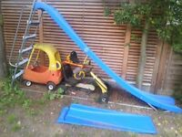 Outdoor slide for sale with extendable section and hand rail