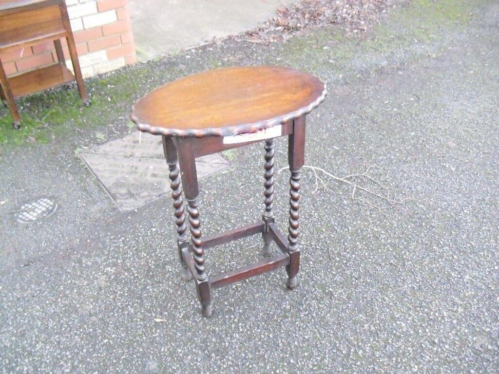 Oak 1920 S Barley Twist Jacobean Style Side Centre Table