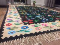 Large Wool Handwoven Kilim/ Traditional Carpet