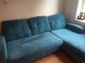 Corner blue sofa