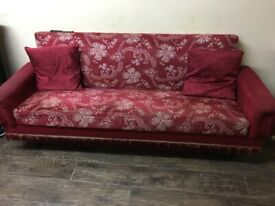 3 SETTEES & 1 LEATHER RECLINER SOFA FREE