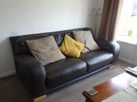 FREE, FREE, FREE Leather sofa, free to anyone who can collect, Tonteg area.