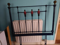 Wrought iron single headboard with Queen's Guards