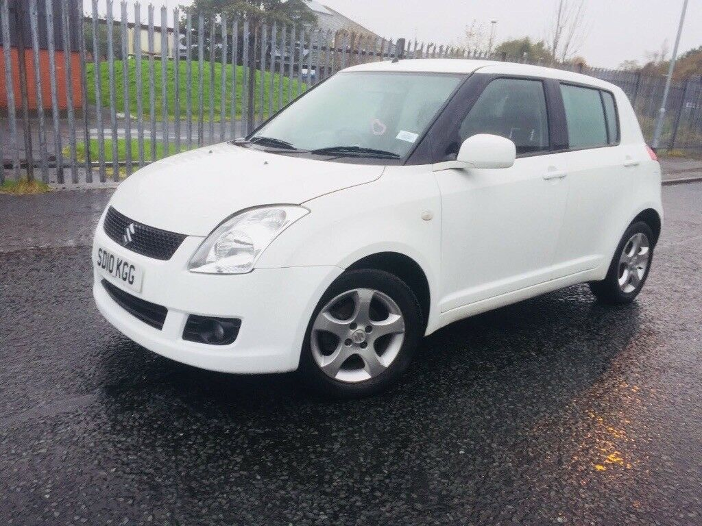 suzuki swift white 2010 1 3 5door low mileage in. Black Bedroom Furniture Sets. Home Design Ideas