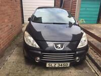 Car, Peugeot 307 cc, convertible, black