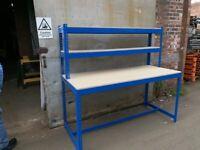 job lot super heavy duty industrial work bench ( storage , pallet racking )