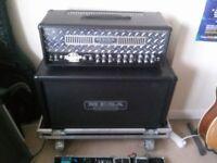 Mesa boogie DUAL RECTIFIER guitar amp Half stack 100w hard case head cab