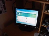 """15"""" Dell Monitor and Keyboard"""
