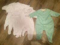 Set of baby sleep suits