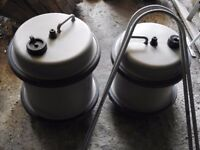 Caravan water rollers and handles. 40litre and 30.