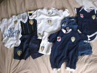 Leeds United baby clothes bundle