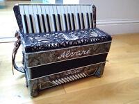 Vintage Italian Alvari piano accordion 34 keys 48 bass