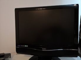 Bush 19 inch; TV with built DVD player, ipod dock and freeview, HD Ready.