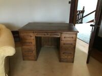 Antique wooden oak desk for sale