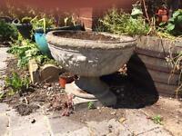 Nice large stone type planter, very ornate and decorative