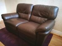 Sofology Brown leather Recliner / Can deliver