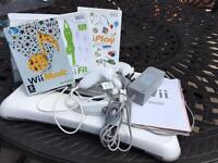 Wii console with various games