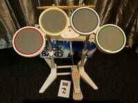 Rock Band Guitar and Drum Set for Nintendo Wii console