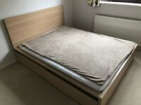 IKEA Malm king size bed with 2 storage drawers