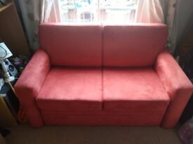Red John Lewis Siesta Sofa Bed (two seater & double bed)